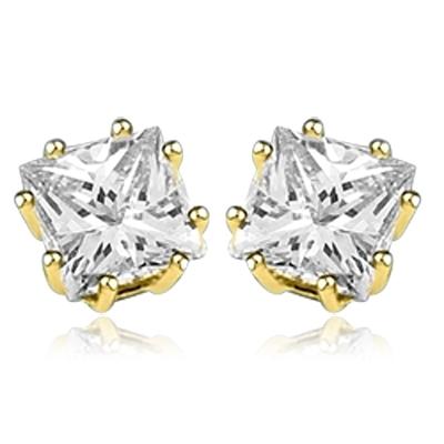 f1ea5957ffed0d Diamond Essence studs of princess cut square stones set in 14K Solid ...