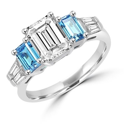 White Topaz 925 Sterling Silver Ring Size 6 SR-355 Entrancing Emerald Quartz