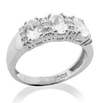 758408e78ad2b Diamond Essence Ring With Oval And Round Brilliant Melee, 1.75Cts.T.W. -  WRDKR1218
